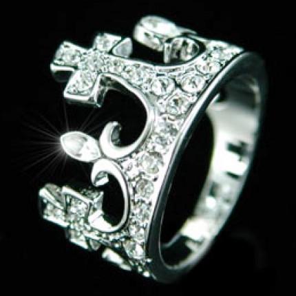 Кольцо в форме короны SR032 Swarovski Crystals