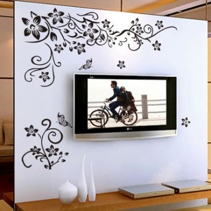 Интерьерная наклейка на стену угловая  AL5701