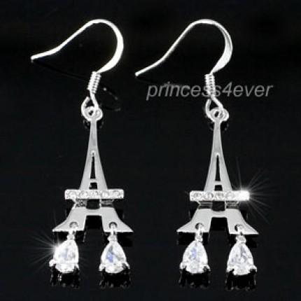 Серьги Eiffel Tower Earrings use Swarovski Crystal SE254