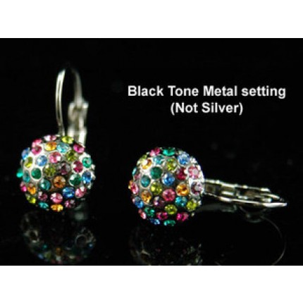 Серьги Multi-colour Ball Earrings use Swarovski Crystal SE110