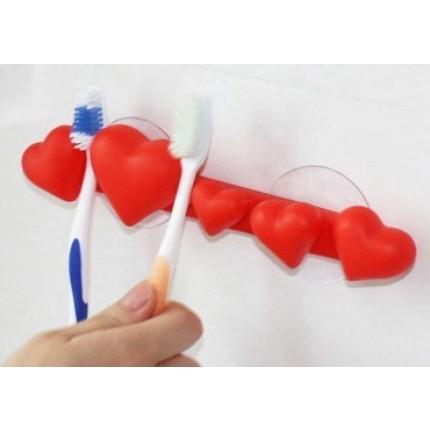 Сердечки с присоской (для щеток, полотенец)