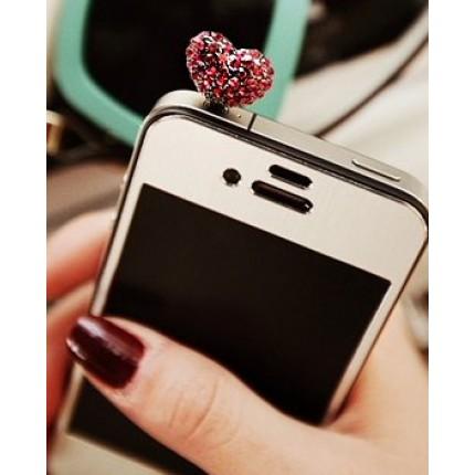 Сердечко на мобильный телефон, малиновый