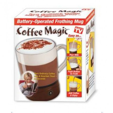 Кружка с миксером для пенки Coffee Magic