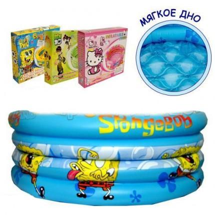 Детский надувной бассейн с мягким дном (150см)
