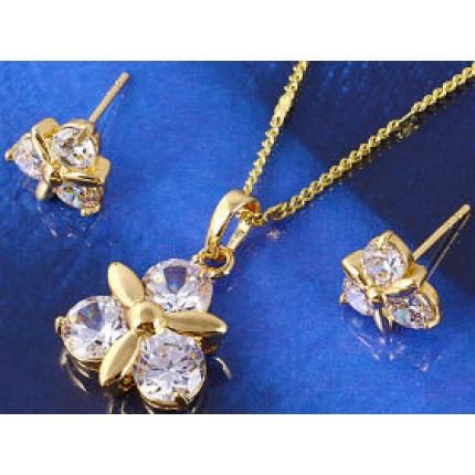 Набор серьги, кулон, цепочка позолота Gold Filled (GF254)