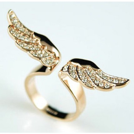 Кольцо Angel Wing Ring use Swarovski Crystal SR067 - 17й размер