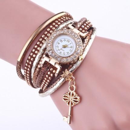 Часы-браслет Ключик Золотистые 113-4