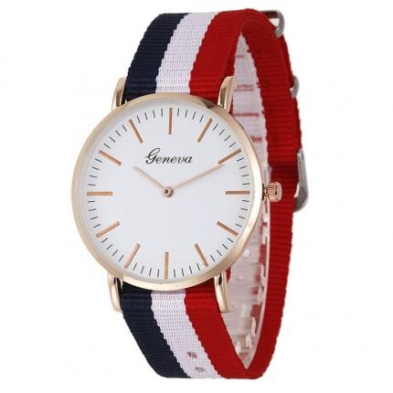 Женские часы Geneva DW текстильный ремешок 127-1