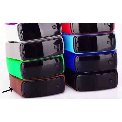 Спортивные силиконовые часы-браслет LED коричневые SW2-14