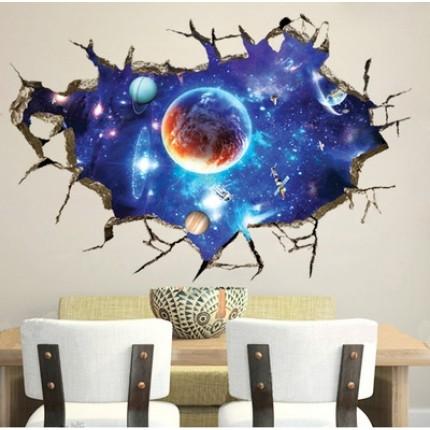 Интерьерная наклейка на стену Космос YW8502