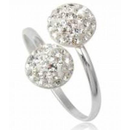 Кольцо TN367.Серебро 925 с кристаллами Swarovski 17-18р