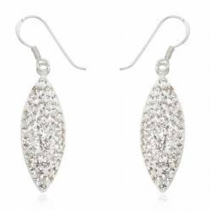 Серьги TN389.Серебро 925 с кристаллами Swarovski