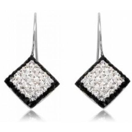 Серьги TN397.Серебро 925 с кристаллами Swarovski