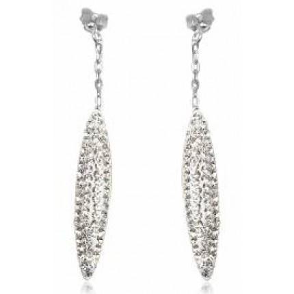 Серьги TN415. Серебро 925. Swarovski Crystals