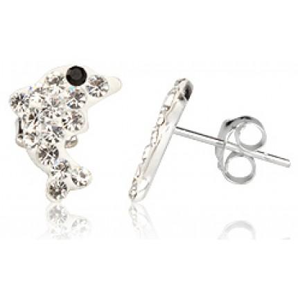 Серьги TN428. Серебро 925. Swarovski Crystals
