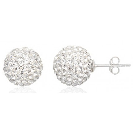 Серьги TN432.Серебро 925 с кристаллами Swarovski (14мм)