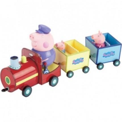 Игровой набор Peppa - ПАРОВОЗИК ДЕДУШКИ ПЕППЫ (паровозик, 3 фигурки) от Peppa - под заказ