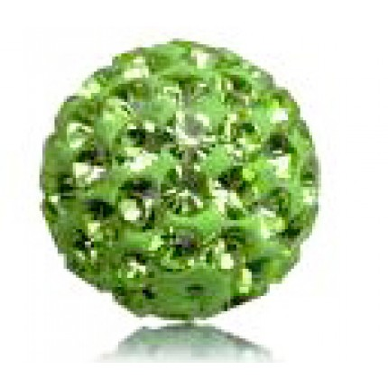 Бусина Шамбала Зеленая (№214) - цена за 10 штук