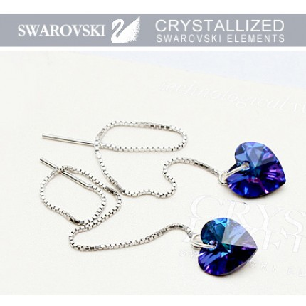 Серебряные серьги с кристаллами Swarovski (SF13)