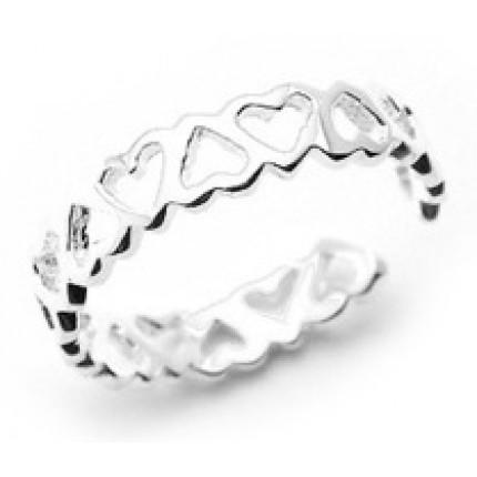 Серебряное кольцо Heart (SF14). Все размеры