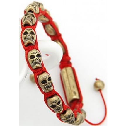 Браслет Шамбала Skull red