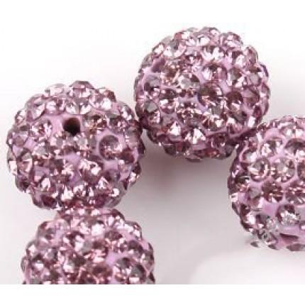 Бусина Шамбала Светло -Пурпурная (№212) - цена за 10 штук