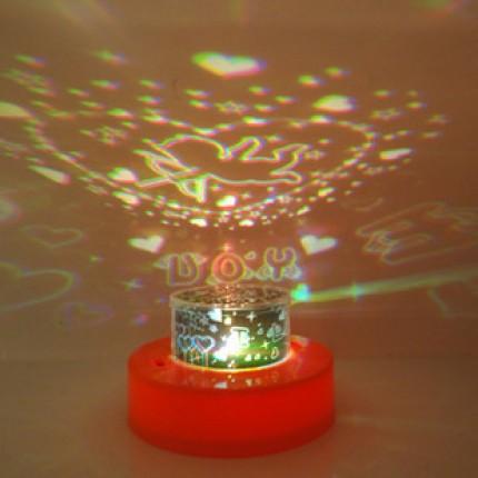 Проектор + электронная свеча (2в1) Love