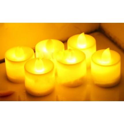 Электронная свеча с пламенем