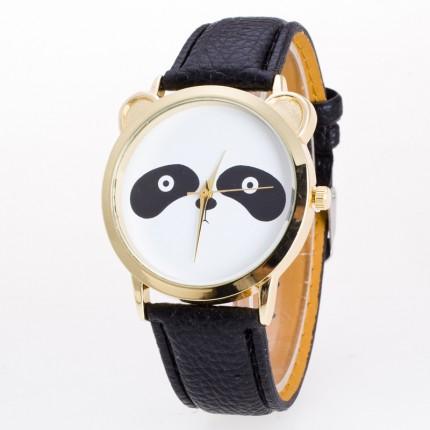 Часы женские Панда черные 108-2