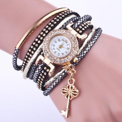 Часы-браслет Ключик Черные 113-2