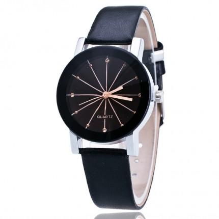Часы наручные женские QUARTZ черные (мал.) 56-02