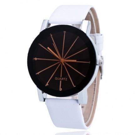 Часы наручные женские QUARTZ белые (бол.) 56-03