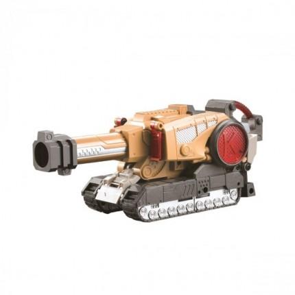 Баттлбот - трансформер – БОЕВАЯ МАШИНА (23 cm, бластер, мишень, 20 стрел) от Dinobots - под заказ