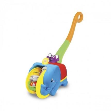 Игрушка-каталка - СЛОН-ЦИРКАЧ (свет, озвуч. укр. яз.) от Kiddieland - preschool - под заказ