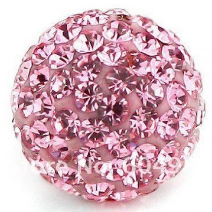 Бусина Шамбала Розовая (№223) - цена за 10 штук