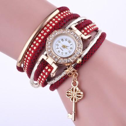 Часы-браслет Ключик Красные 113-1