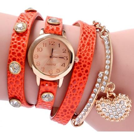 Часы-браслет длинные, наматывающиеся на руку Оранж 089-8