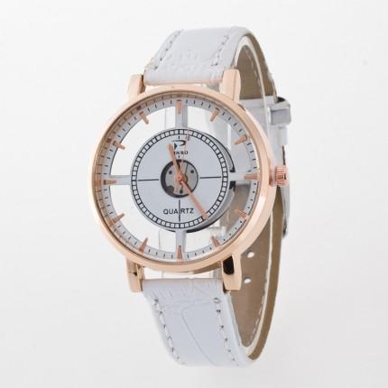 Часы наручные прозрачные 107-1 белые