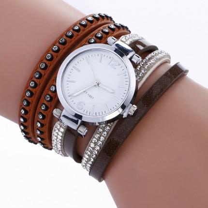 Часы-браслет длинные, наматывающиеся на руку Шоколад 112-5