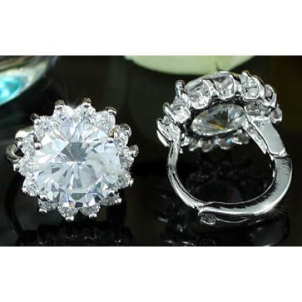Серьги 1 Carat CZ Simulated Diamond Flower Earrings SE402