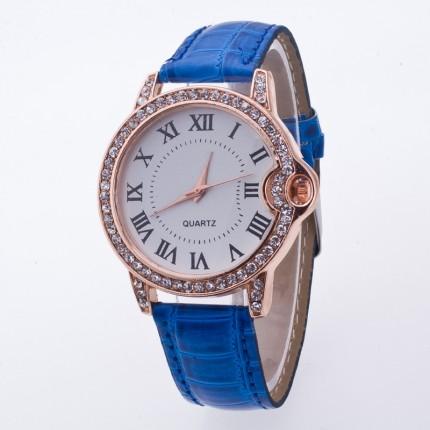Часы женские Geneva Питон Стразы 100-4 синие