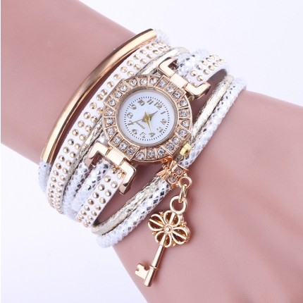 Часы-браслет Ключик Белые 113-3