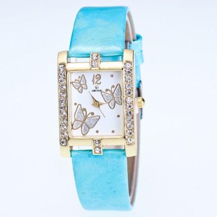 Часы женские Бабочки голубые 126-5