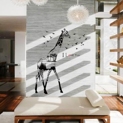 Интерьерная наклейка на стену Жираф SK9198