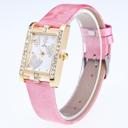 Часы женские Бабочки розовые 126-3