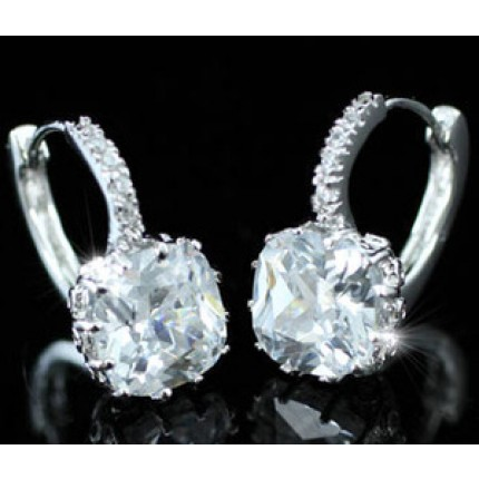 Серьги 3 Carat CZ Cubic Zirconia Huggie Bling Earrings SE204