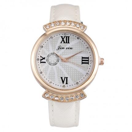 Женские часы JX стразы золотистые 131-3