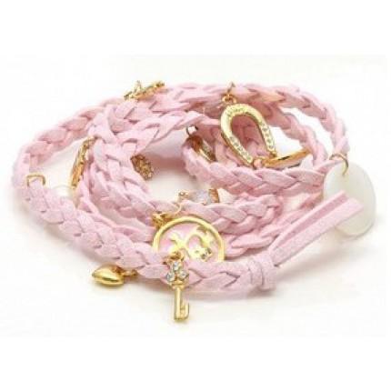 Браслет в стиле Juicy Couture, Light Pink