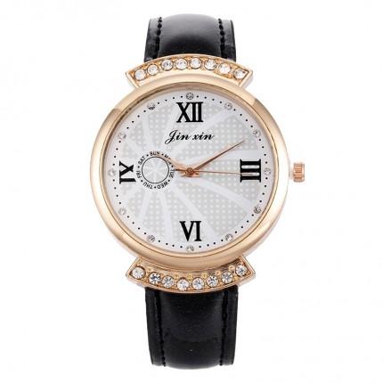 Женские часы JX стразы черные 131-4