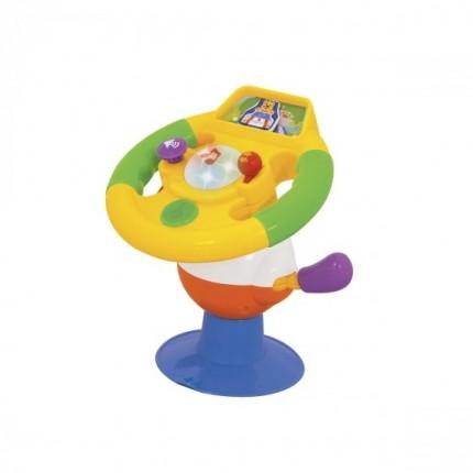 Игрушка на присоске - УМНЫЙ РУЛЬ (свет, озвуч. укр. яз.) от Kiddieland - preschool - под заказ